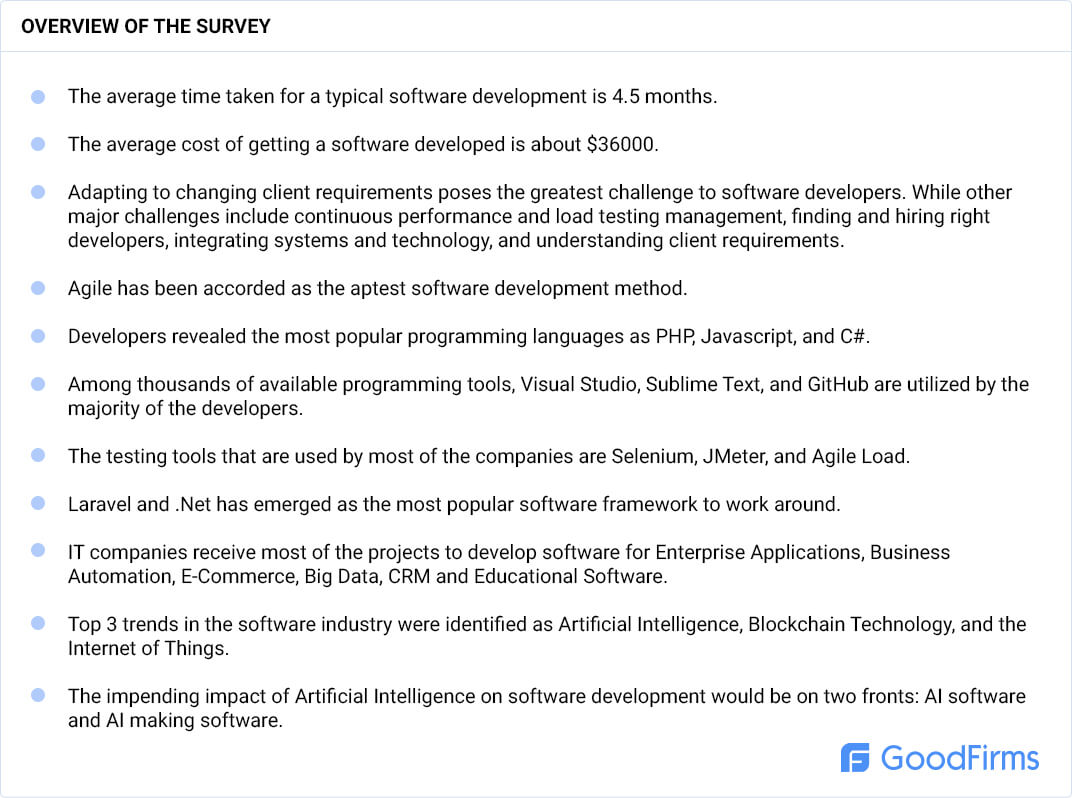 Software development research overview